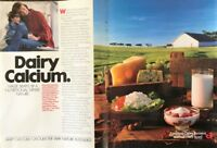 ORIGINAL 1987 America's Dairy Farmers / National Dairy Board Two-Page Print Ad
