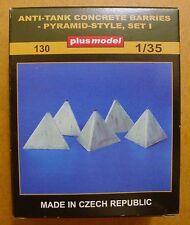 130 plus model 1:35 anti tank des barrières de béton pyramide style set 1 diorama 5Pcs