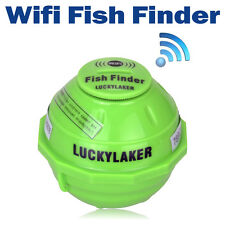 WiFi Wireless Fish Finder Sonar sensor transducer fishing alarm 45m depth gear