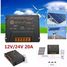 20A 12V/24V Mppt Auto Solar Panel Charge Controller Battery Regulator Usb