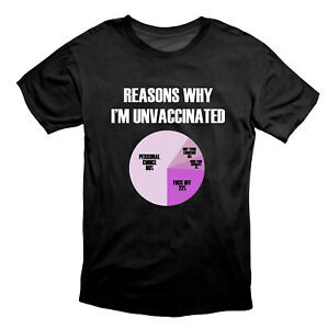 Reasons Why I'm Unvaccinated Plandemic T Shirt Black