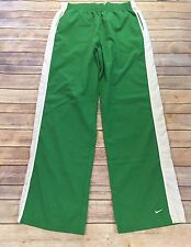 Nike Women's Size XL (16-18) Green & White Straight Leg Relaxed Athletic Pants