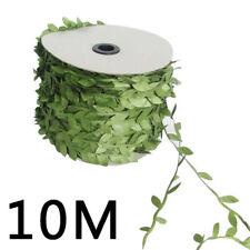 33ft Garland Plant Artificial Leaf Vine Fake Green Flower Wreath Home Decor New