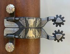 New Handmade DON ROGERS Double Mounted Arrow Shank Spurs