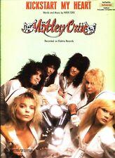 MOTLEY CRUE KICKSTART MY HEART SHEET MUSIC GUITAR TAB W/COMPLETE SOLO 1989 NEW