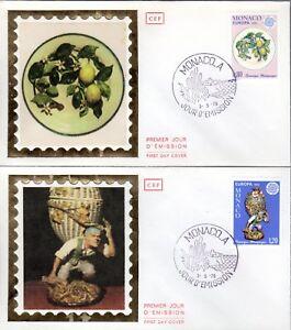 1062/3 + FDC 2   ENVELOPPES  1er JOUR  CEF EUROPA  1976