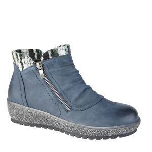 Cipriata inside zipped knitted collar Ankle Boots Style Gina 5015 Colour Navy