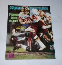 1983 NO LABEL Sports Illustrated WASHINGTON REDSKINS win SUPER BOWL Riggins WOW!