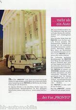 Prospekt Tommobil Fiat Pronto Talento 1990 Reisemobile Wohnmobil brochure