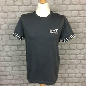 EA7 EMPORIO ARMANI MENS GREY TAPE T-SHIRT TEE SHORT SLEEVE RRP £40 T