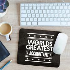 Worlds Greatest Accountant Mouse Mat Pad 24cm x 19cm