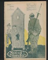 Noi E Il Mondo Magazine June 1918 World War I Soldier Riccardo Zandonai