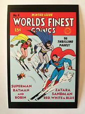 CARTE POSTALE DC COMICS WORLD'S FINEST COMICS N° 4 NEUF POSTCARD SUPERMAN BATMAN