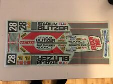 Decal sheet tamiya stadium blitzer