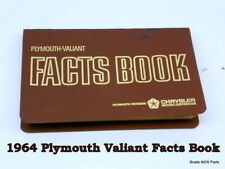 NOS MoPar 1964 Plymouth Fury Valiant POCKET SIZE DEALER FACTS BOOK