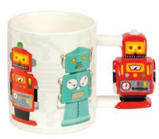Novelty Robocup Robot Mug Tea Cup Coffee Drink Gift 3D Handle Robots Work Brew