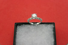 Beautiful 14 Carat White Gold Ring 1.7 Gr.  3.7 Carat Solitaire Diamond Size N