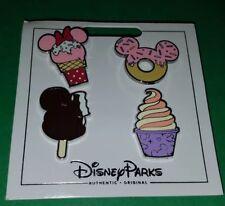 Disney Pins Treats Set Dole Whip Donut Ice Cream Bar 4 Pins NOC Free Shipping