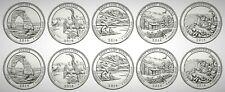 2014 USA America the Beautiful (ATB) National Parks UNC BU P&D 10 Coin Set!!