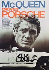 Poster, Porsche/Reprint Rennplakat, McQueen drives Porsche, 12h Sebring, 908/2