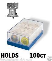 Lighthouse Poker Chip Storage Plastic Box Case Coin Holder for 2x2 Paper Flip