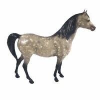 Vintage Traditional Breyer Model Horse Proud Arabian Mare Dapple Grey Black Legs