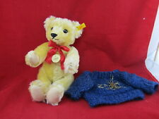 2000 Steiff Classic 1909 Growler Teddy Bear - 000379 With Blue Sweater