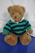 "Lands' End Gund Teddy Bear ""RUGBY BEAR"" Rugby Series w/Box and Tags"