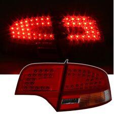 LED Rückleuchten Set Audi A4 B7 Limo 04 - 07 Rot Smoke Dunkelrot Heckleuchten