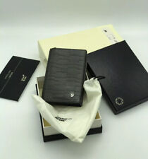 Mont Blanc 4810 Westside Business Card Holder With Gusset Anthractic Metalic
