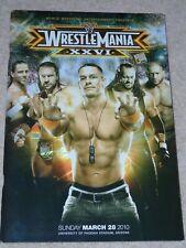 WWE WRESTLEMANIA XXVI 26 PROGRAMME wwf UNDERTAKER SHAWN MICHAELS BRET HART VINCE