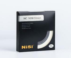 NiSi 77mm NC ND8 3 STOPS Ultra Thin Neutral Density Filter ND8 (0.9) 3 Stop