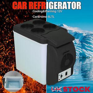 6L 12V Portable Mini Car Freezer Cooler Warmer Electric Fridge Travel Box UK