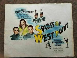 "1947 Vintage Original Film Poster ""SPIRIT OF WEST POINT"" army academy football"