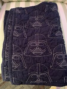 Pottery barn Darth Vader Embroidered Standard Shams A Pair. Color.. Blue