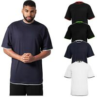 URBAN CLASSICS Contrast Tall Tee T-Shirt Oversize Übergrößen Big Size Gr.M-6XL