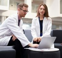 High Quality Professional Lab Coat  Medical White Unisex XS S M L XL Men Women