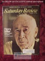 SATURDAY REVIEW December 11 1971 HENRY MILLER BENJAMIN DEMOTT BERKELEY RICE