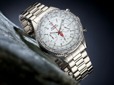 DETOMASO Firenze Men's Wrist Watch Chronograph Stainless Steel White Dial (12a)