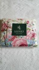 Ralph Lauren ~ Full Flat Sheet ~ Water Floral Pink ~ Cabbage Roses ~ NIP