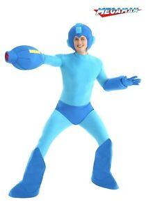 ADULT BLUE BUSTER ROBOT VIDEO GAME HERO MEGA MAN SIZE M (with defect)