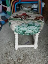 Bar Stool,foot Stool,refurbished In Laura Ashley Paint & Hunting Scene Fabric