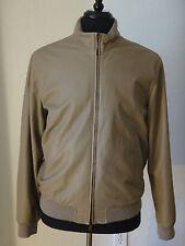 Loro Piana Men's Lambskin Leather / Cashmere - Reversible Jacket Size LARGE