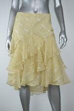 Lauren Ralph Lauren New Womens Beige Animal Print Chiffon Crinkled Skirt Size 12