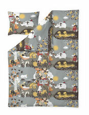 Moomin Eco Duvet Cover Pillowcase Jungle Moomin Brown 150 x 210 50 x 60 cm