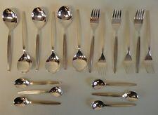 Oté 60 Argento Posate-SEVENTIES anni sessanta Fifties Design - 18 pezzi