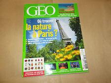 GEO   379 . ou trouver la nature a paris ?