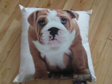 NEW bulldog puppy  Cushion 40x40cm
