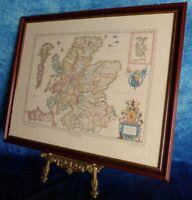 Vintage MAP OF SCOTLAND Gerard Mercator (1595); Blaeu (1635) - Framed Art Print