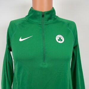Nike Boston Celtics Quarter Zip Dri Fit Sweatshirt NBA Basketball Green Size S